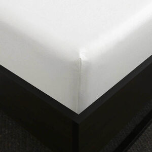 SB FITTED SHEET 500 Threadcount Cotton White