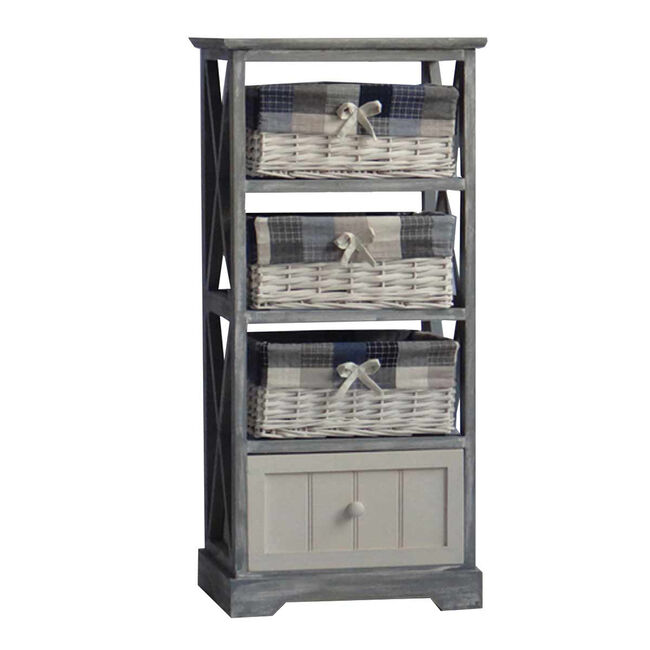 Wash 3 Basket Unit with 1 Drawer