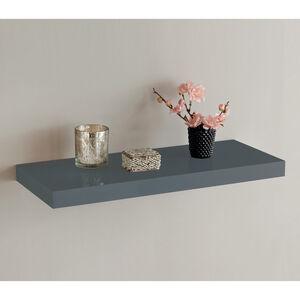 Ebbe High Gloss Grey Shelf 60cm