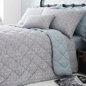 Haller Grey Bedspread 200cm x 220cm