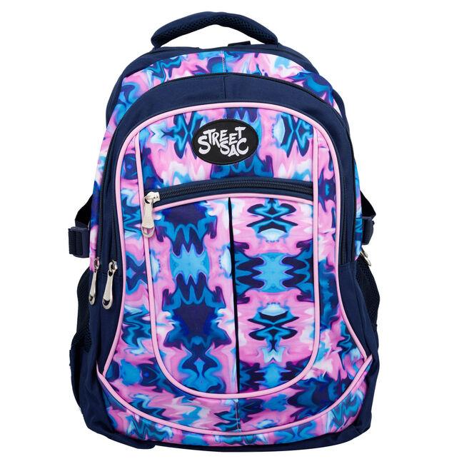 Streetsac Ocean Whirl Pink/Grey Schoolbag