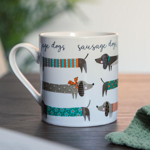 Sausage & Scotty Fine China Mug