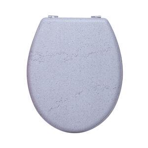 Stone Effect Toilet Seat - Grey