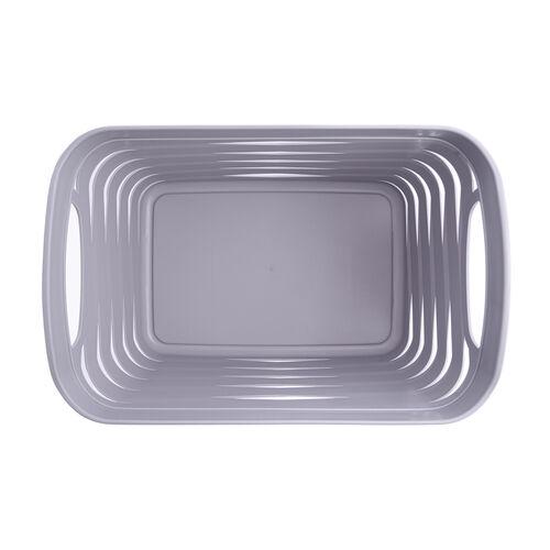 Ribbon Storage Basket 12L - Soft Grey