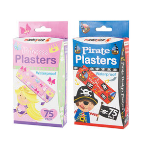 Pirate & Princess Plasters 75 Pack