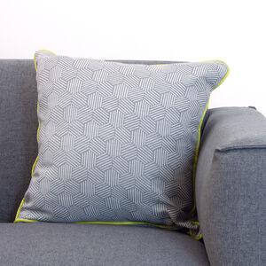 Neon Cushion 45x45cm - Steel