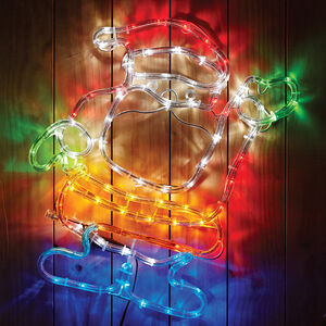 Santa Silhouette Rope Light