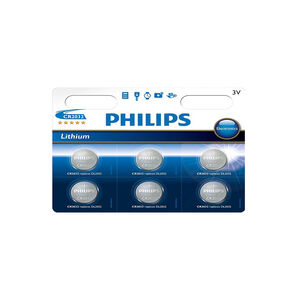 Philips Lithium Coin 6 Pack CR2032 B6