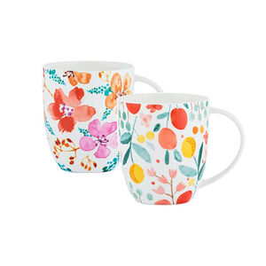 Fruit and Flora Bone China Mug