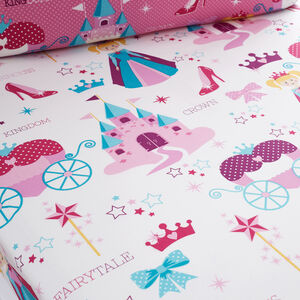 PRINCESS MAGIC Double Fitted Sheet