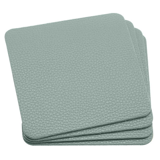 Leather Coasters 4 Pack - Duck Egg
