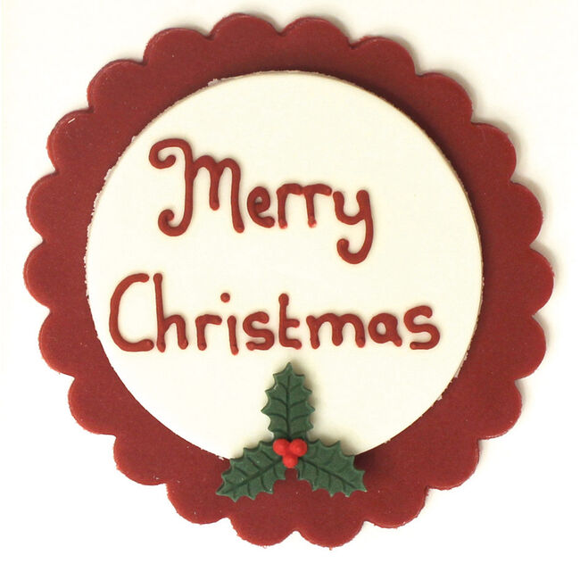 Merry Christmas Icing Cake Topper