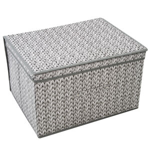 Knit Foldable Storage Chest - Grey