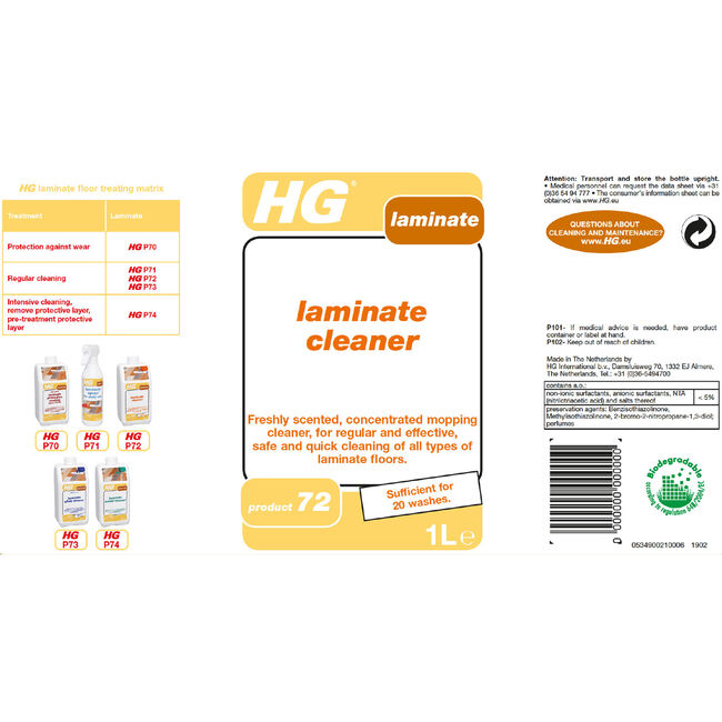 HG Laminate Floor Cleaner 1L