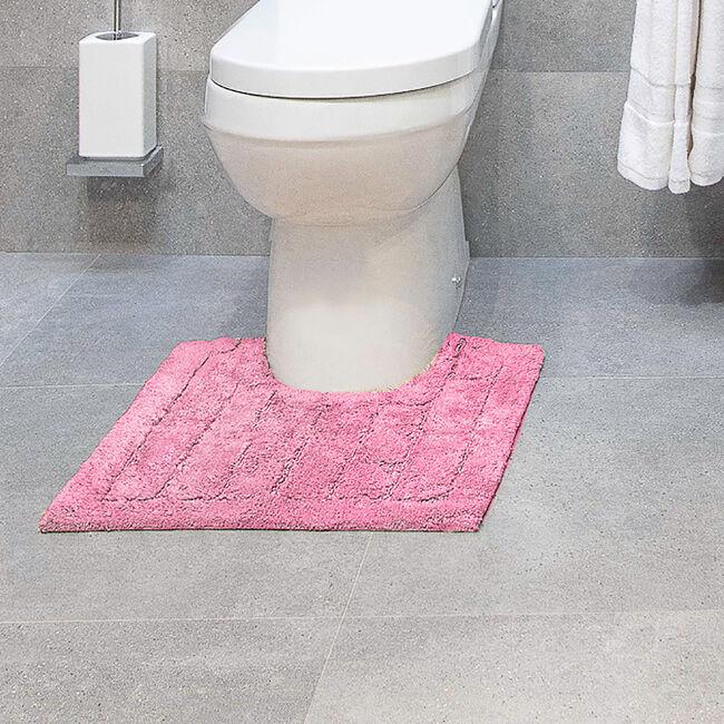 Cotton Brick Pedestal Mat Blush Pink