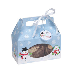 Snowman Treat Boxes with Ribbon & Gift Tags