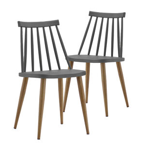Alexa Grey Dining Chair Set of Two