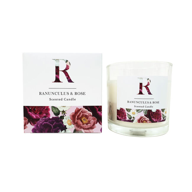 Floral Ranunculus & Rose Scented Candle