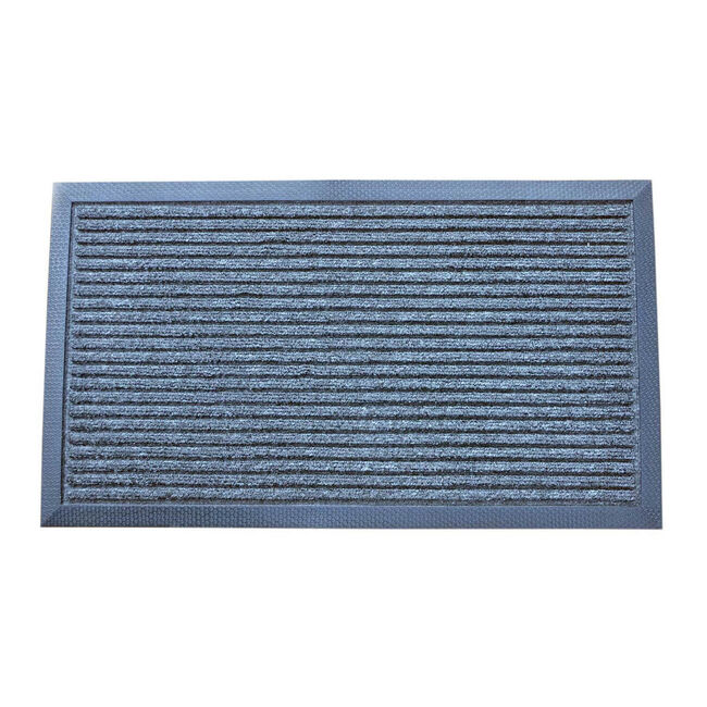 Esteem Stripe Charcoal Door Mat