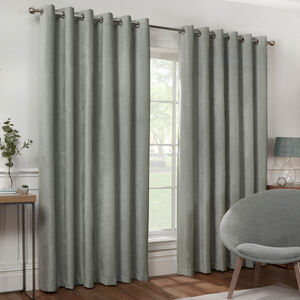 BLACKOUT & THERMAL TEXTURED DUCK EGG 66x54 Curtain