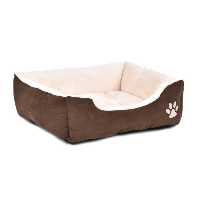 Brown & Beige Pet Bed Small
