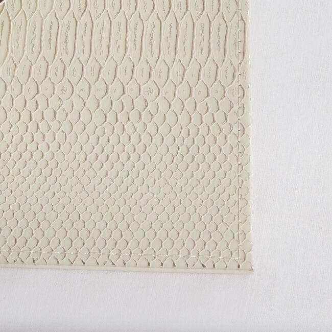 Reversible Croc Placemats - Cream 4 Pk