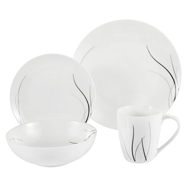 Wave 16 Piece Dinner Set