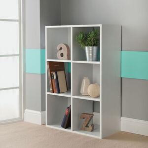 Rubix Shelf Organiser 6 Cube - White