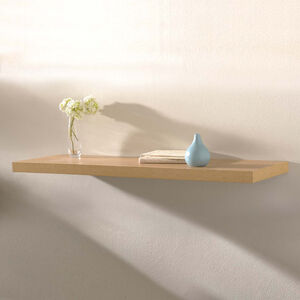 Capri Floating Wall Shelf Set Beech Effect 120cm