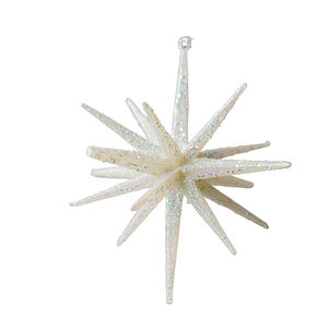 Glitter Icicle Star Tree Decoration - White
