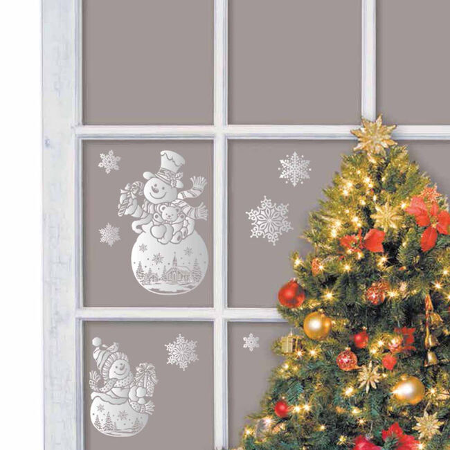 Christmas Snowflakes Window Stickers