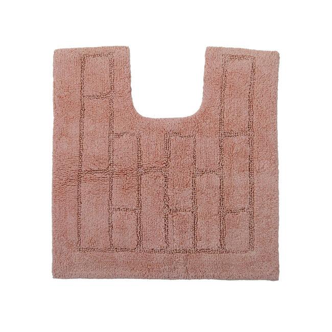 Cotton Brick Pedestal Mat Peach