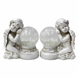 Cherub Crackle Ball Solar Light