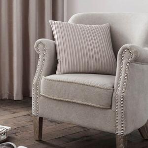 Velvet Pleat Cushion 40x40cm - Champagne