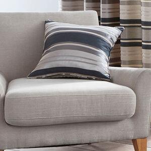 Horizontal Stripe Cushion 45x45cm - Charcoal