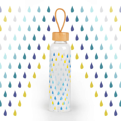 Cambridge Raindrops Glass Bottle - 550ml