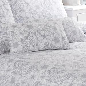 Floral Sketch Cushion 30x50cm - Grey