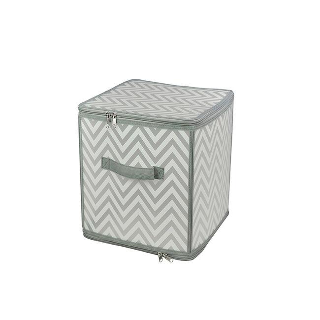 Clever Chevron Clothes Cube Storage 30x30x30cm