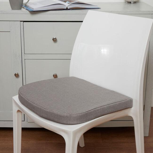 Non-Slip Woven Ice Grey Seat Pad