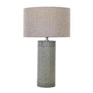 Ceramic Grey Geometric Table Lamp