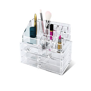 Cosmetic Organiser 4 Drawer With Display Top