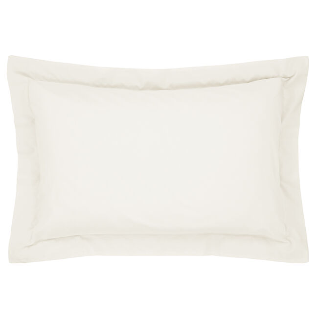 Luxury Percale Oxford Pillowcase Pair - Cream