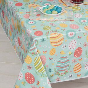Decorative Eggs Table Cloth