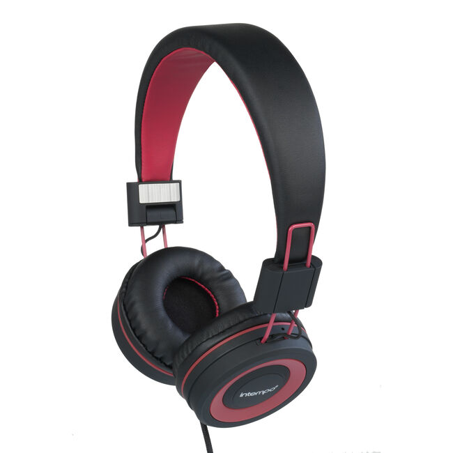 Intempo Vivid Black/Red Headphones
