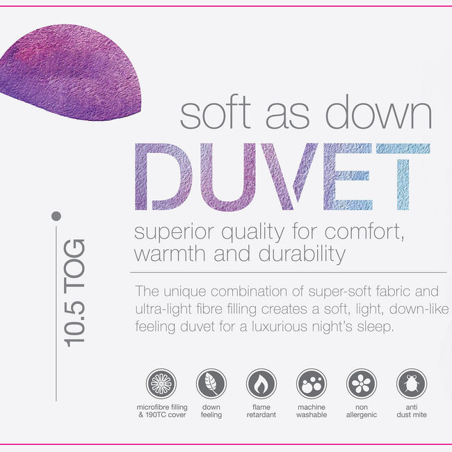 SINGLE SOFT AS DOWN Duvet
