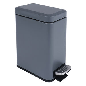 Slate Grey Steel Soft Close 5L Slim Bin