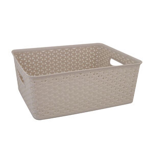 Geometric 14.5L Soft Grey Basket