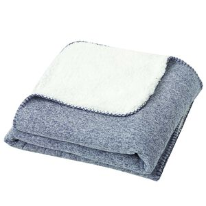 Nicole Day Jersey Sharpa Denim Throw