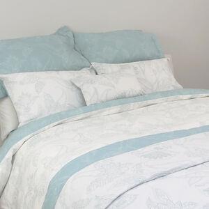 Paisley Elegance Duck Egg Bedspread 200cm x 220cm
