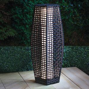 Rattan Solar Lantern Brown 69cm